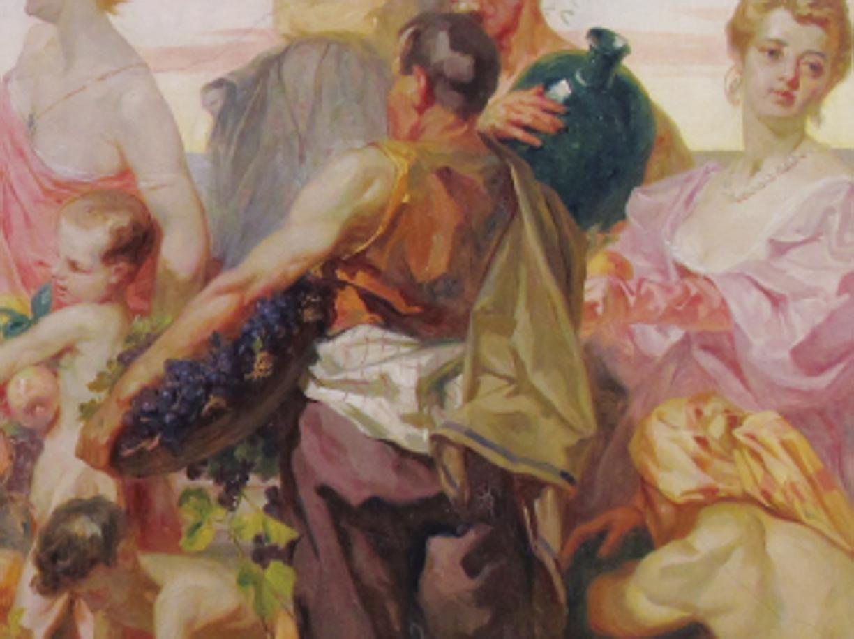 GAETANO CRESSERI (1870 – 1933)  La grande decorazione nell'officina di un artista